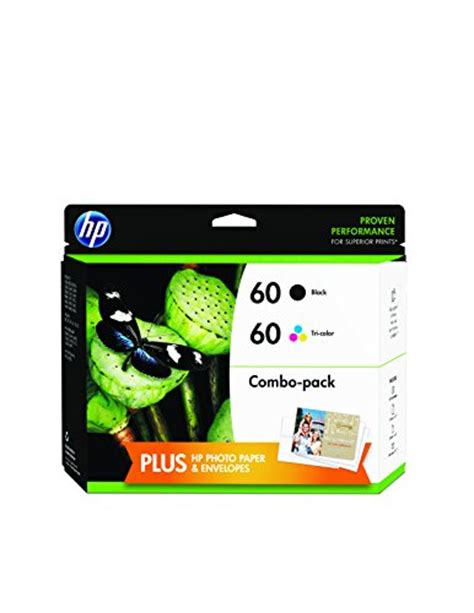 hp 60 2 pack blacktri color original ink cartridges hp 60 black tri color original ink cartridges with photo
