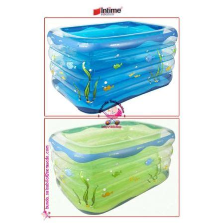 Intime Baby Spa Pool jual baby spa intime baby pool rectangle blue green