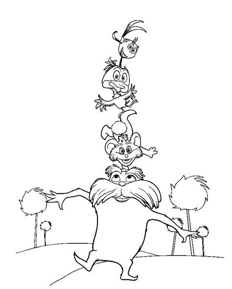 The Lorax Bears Coloring Pages by The Lorax Bears Coloring Pages Printable Coloring Pages