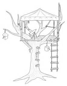 treehouse coloring pages at tree house colouring pages
