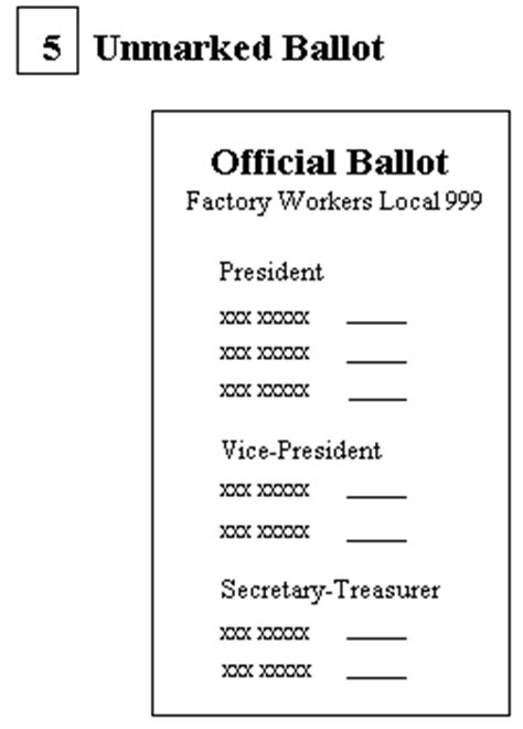free voting ballot template free printable sle voting ballots templates