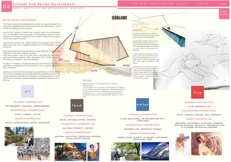 Architecture Thesis Sheets Architectural Design Concept Sheets