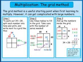 multiply using the grid method mnm for students