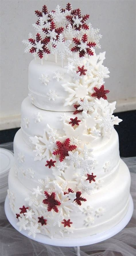 burgandy winter wedding cake snowflake cascade wedding cake dream garden pinterest
