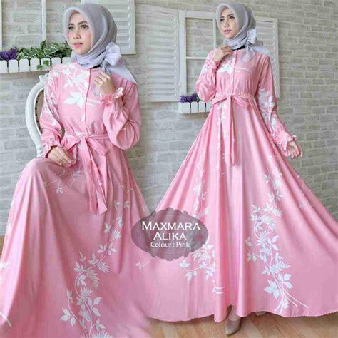 Baju Wanita Gamis Maxmara Syarii Muslim Cantik Modern Modis Lucu baju gamis maxmara syar i 2018 alika model baju gamis terbaru
