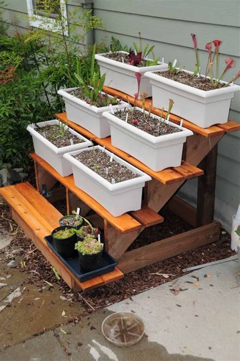 backyard planter designs diy tiered plant stand things i want for my garden