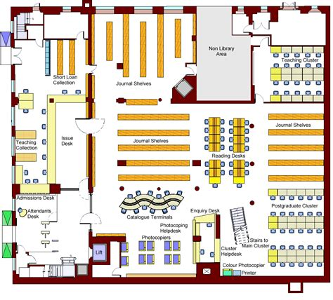 Library Floor Plan Design Ucl Library Newsletter Issue 6 Plan Image