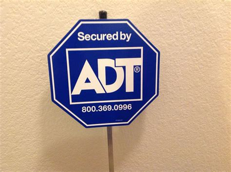 new adt security yard signs with poles attached other