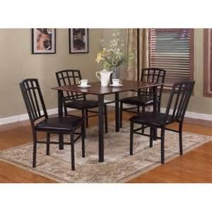 black walnut kitchen table pilaster designs 5 pc black walnut finish wood metal
