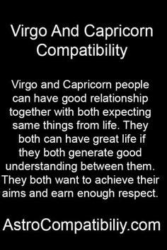 quick list of pros and cons concerning a virgo capricorn