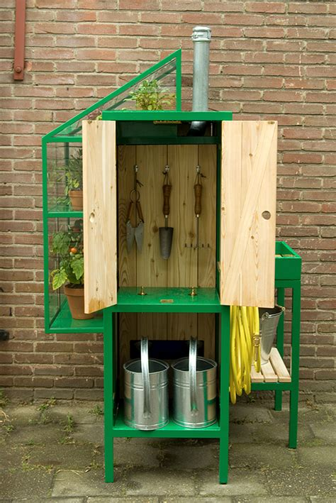 stylish combo potting table  greenhouse  integrated