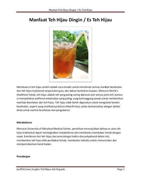 Teh Hijau Untuk Kulit manfaat teh hijau dingin untuk kesehatan