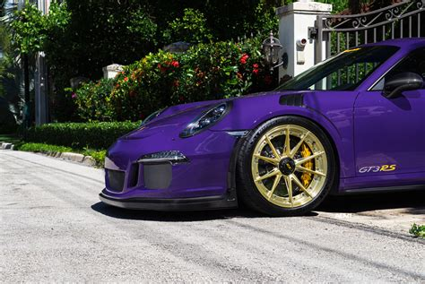 gold porsche gt3 ultraviolet purple porsche gt3 rs adv5 2 m v2 advanced