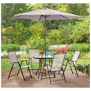 Tempered Glass Patio Table 6 Outdoor Dining Set Patio Deck Table Chairs Umbrella Tempered Glass Folds Ebay