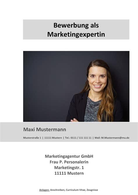 Bewerbungen Bereich Marketing Deckblatt In Der Bewerbung 252 Ber 100 Kostenlose Muster