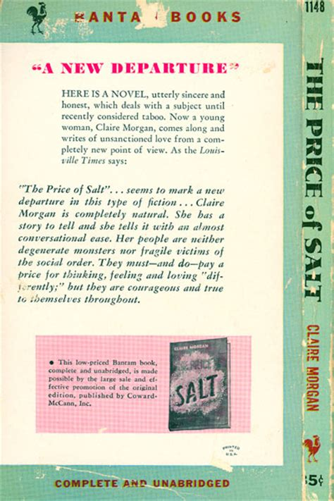 the price of salt passions and transgender pulps