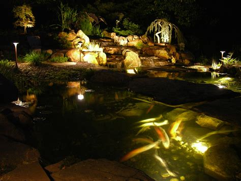 outdoor lighting in downingtown pa pond lights path