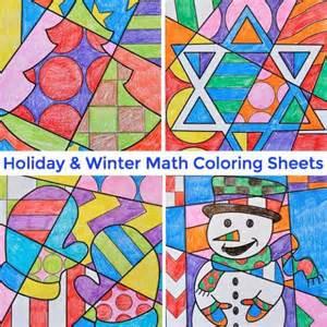 math coloring sheets holidays