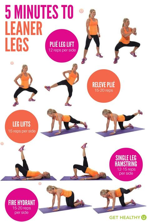 7 Leg Strengthening Exercises by 5 Minutes To Leaner Legs Legs Workouts And Workout