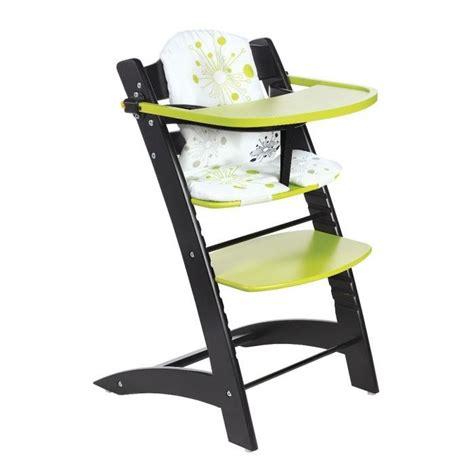 badabulle chaise haute evolutive noir anis noir et anis