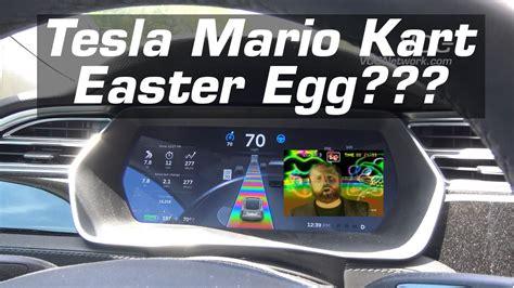 Mario Tesla Tesla Model S X 3 Easter Egg Rainbow Road Mario Kart