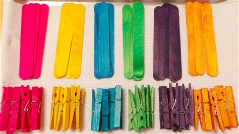 color sticks colored clothespins and craft sticks