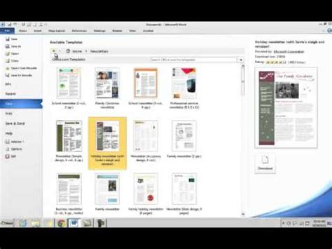 Microsoft Office 2010 Templates Youtube Microsoft Office 2010 Templates