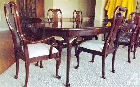 Cherry Dining Room Chairs Sale by Thomasville Collectors Cherry Dining Room For Sale In