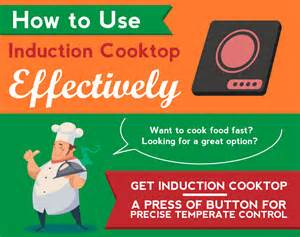 cookware to use with induction cooktop how to use induction cooktop effectively infographic