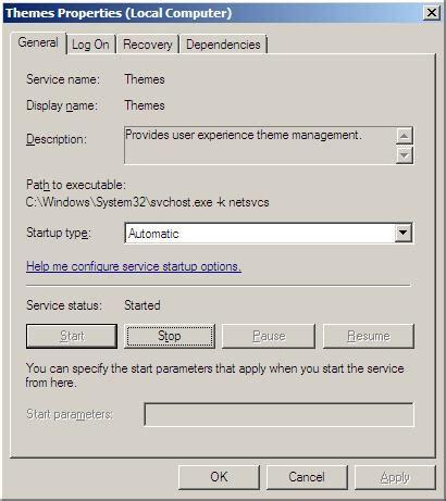 microsoft themes service windows server 2008 desktop experience feature