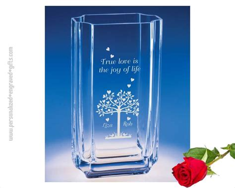 engraved glass vases personalized etched vases