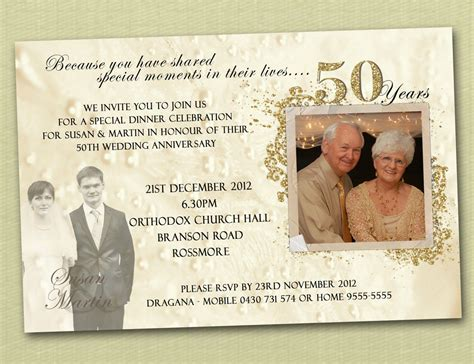 Wedding Anniversary Jubilee by Golden Jubilee Wedding Anniversary Invitation Cards