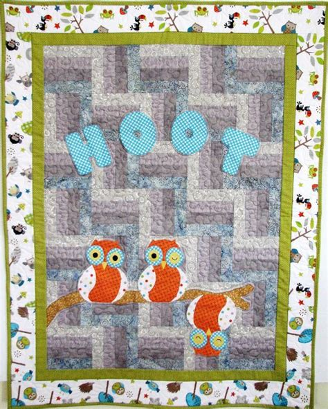 Owl Baby Quilt Pattern by It S A Hoot Owl By Quiltnut1 Quilting Pattern