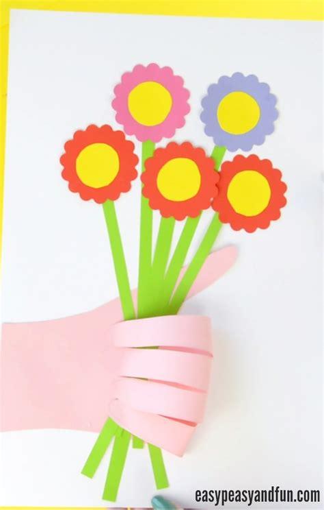 flower craft for handprint flower bouquet craft s day idea easy