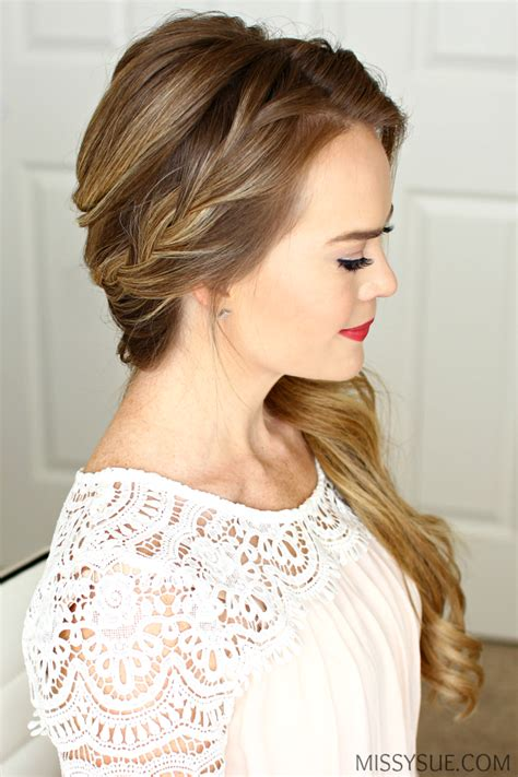 Prom Hairstyles To The Side by Braided Side Swept Prom Hairstyle Sue