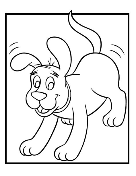 Coloring Pages Of Clifford The Big Red Dog Coloring Home Clifford The Big Coloring Page