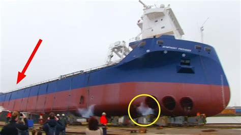 boat r gone wrong ship launch gone wrong symphony provider stuck on slipway
