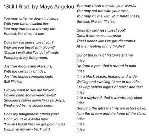 printable version of when tomorrow starts without me maya angelou quotes still i rise nice pics