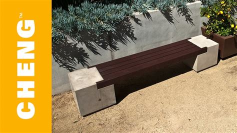make concrete bench make a concrete and wood bench with cheng outdoor concrete