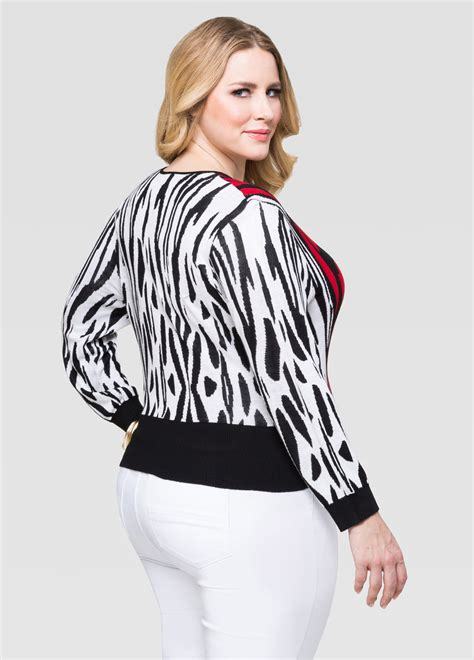 twist cropped zip cardigan plus size sweaters