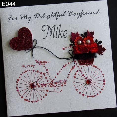 handmade card greeting personalised bike handmade