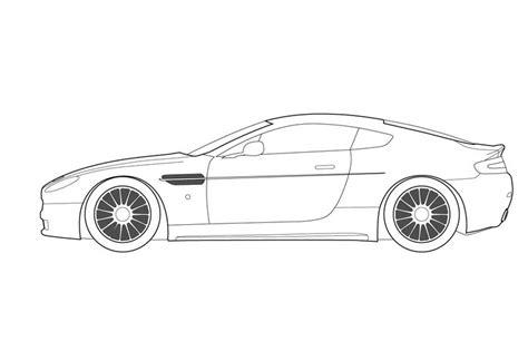 Car Template Printable Race Car Racing Auto Formula 1 One Le Mans Color Coloring Colour Car Outline Templates