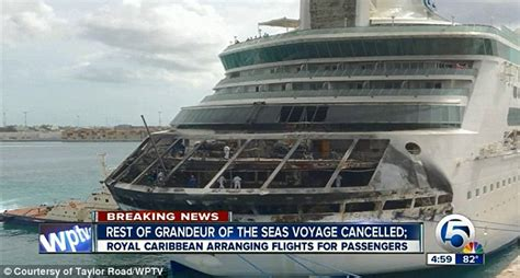 boat crash captains quarters royal caribbean cruise terrifying moment fire engulfed