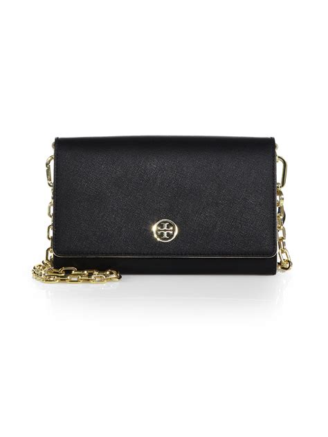 Chain Wallet by Burch Robinson Chain Wallet In Black Black Gold Lyst