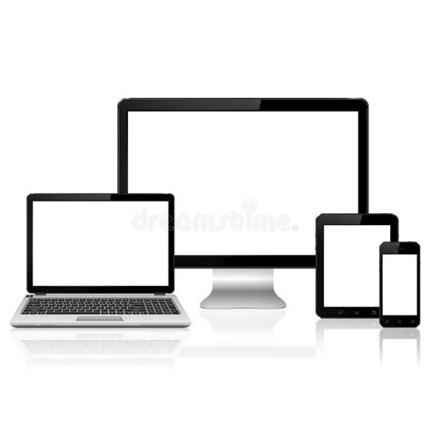 pc to mobile computer monitor laptop tablet pc and mobile phone stock