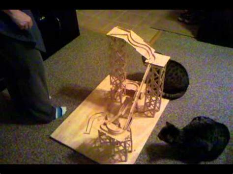 How To Make A Roller Coaster Out Of Paper - popsicle stick rollercoaster