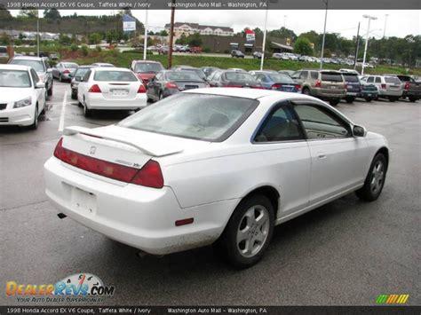 1998 honda accord white 1998 honda accord ex v6 coupe taffeta white ivory photo