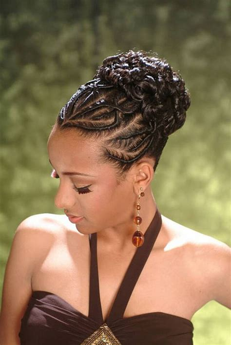 Black Braided Updo Hairstyles by American Braid Updo Hairstyles Hair