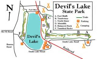 Devils Lake State Park Map by Devil S Lake Wi