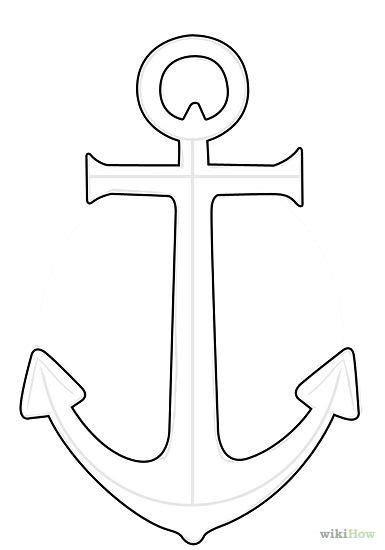 Anchor Pattern Drawing | drawn anchor pencil and in color drawn anchor